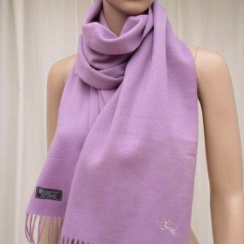 Burberrys of London Cashmere Lilac Purple Scarf