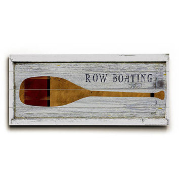 Row Boat Oar by Artist Beth Albert Wood Sign
