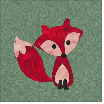 Fox Applique Pattern, Applique Pattern, Quilt Applique, Fox Applique, Little Fox Applique, Applique Design, Applique Block, Forest Animal