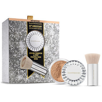 bareMinerals 20th Anniversary Collector's Edition ORIGINAL Foundation & Beautiful Finish Brush