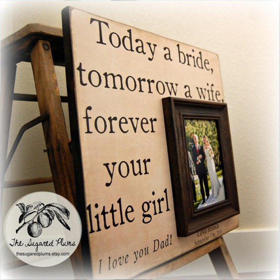 Wedding Gifts For Father Of Bride : Father of the Bride Custom Wedding Gift from thesugaredplums on