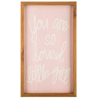 So Loved Little Girl Wood Wall Decor | Hobby Lobby | 5779699