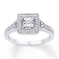 Diamond Ring 1/20 ct tw Round-cut Sterling Silver