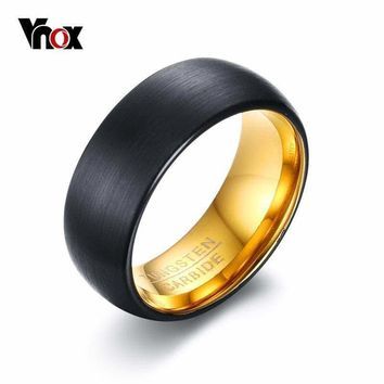 8mm Black Matt Surface Tungsten Rings