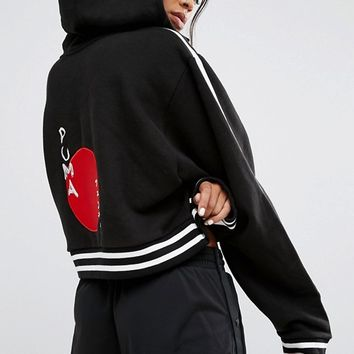 Fenty X Puma By Rihanna Lace Up Cropped Hoodie at asos.com