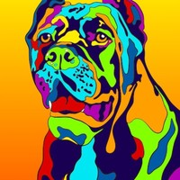 Multi-Color Cane Corso Dog Breed Matted Prints & Canvas Giclées