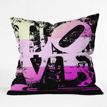 Philadelphia Love Pink Throw Pillow