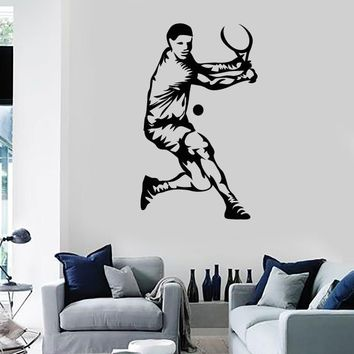Wall Stickers Vinyl Decal Tennis Sport Fun For Living Room (z1706)
