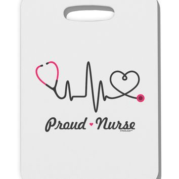 Stethoscope Heartbeat Text Thick Plastic Luggage Tag