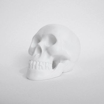 Skull Sculpture Ghost Skull Skull Figurine Skull Candle Holder Skull White Skull Skull Figurine