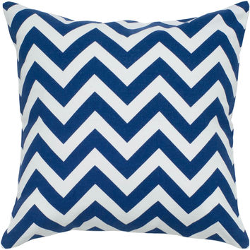 "Printed Navy Pillow Cover (18"" x 18"")"