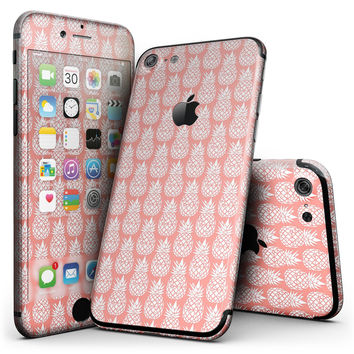Tropical Summer Pineapple v2 - 4-Piece Skin Kit for the iPhone 7 or 7 Plus