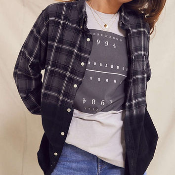 Urban Renewal Recycled Dip Dye Flannel Shirt   Urban Outfitters