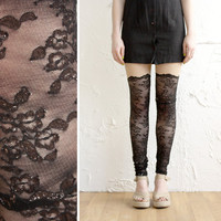 Lace Leggings Black Lace Psych Out Faux by iheartnorwegianwood