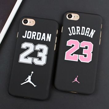 Flyman Michael Jordan 23 Chicago Slim Plastic Cases For iphone 7 7 Plus Back Cover For iphone 6 6s Air Jordan Phone Fundas Shell