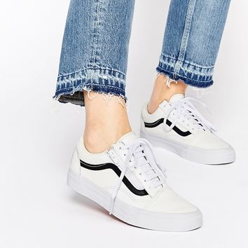 Vans Old Skool Black & White Zip Trainers