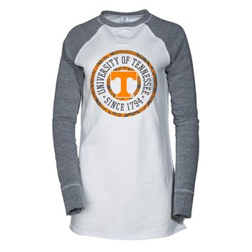 Official NCAA University of Tennessee Volunteers, Knoxville Vols UT UTK Women's Fleece V-Notch Sweatshirt
