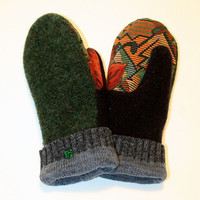 Upcycled Felted Wool Mittens