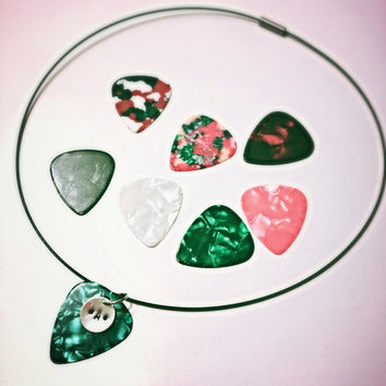 Rock Star Guitar Pick Party Favor Pack- 6 Necklaces plus one free for birthday child!