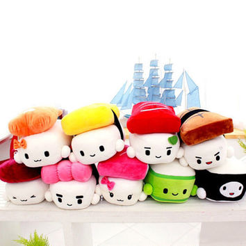 Kawaii Yummy Sushi Friends Stuffed Plush Toy Pillow