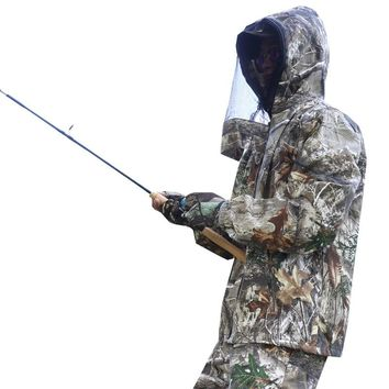 Outdoor Fishing Watching Birds Bionic Clothing Camouflage Suits Photography Hunting Shooting Men Women Jacket Pants Mosquito Cap