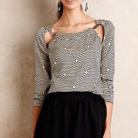 Tuned Cutout Blouse by Plenty by Tracy Reese Black & White