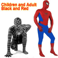Amazing Spandex Black Spiderman Costume Clothes Suit Boy Kids Children Adult Spiderman Costume Zentai Halloween Cosplay Costume