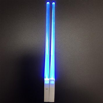 LED Chopsticks Non-Slip Light Up Chopstick Plastci Reusable Sushi Sticks Tableware Home Party Gifts
