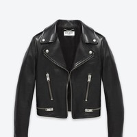 Saint Laurent Original Motorcycle Jacket In Black Leather | ysl.com