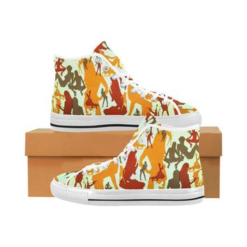 Sexy Girls Design 1 Vancouver High Top Canvas Men's Shoes