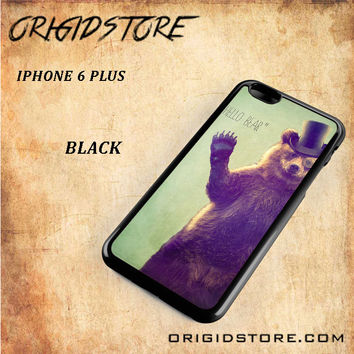 Hello Bear For Iphone 6 Plus Case Gift Present - Multiple Choice Material