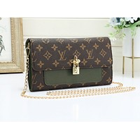 Louis Vuitton New light luxury shoulder messenger bag chain bag small square bag 1#