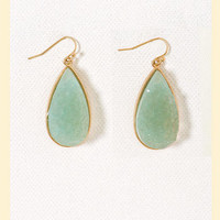 Mineral Teardrop Earrings