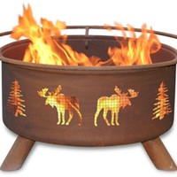 Moose & Trees Fire Pit