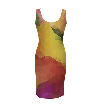 Colorful Geometric simple dress