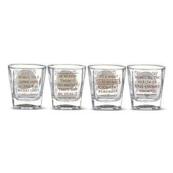 Slainte Set Of Four Hand Wash Only Whiskey Glasses 8 Oz