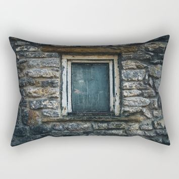 Who's That Peepin' In The Window? Rectangular Pillow by Mixed Imagery