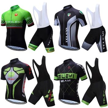 2018 Cycling Dress BIB Shorts Sets Summer Men's Mountain Bike Clothing Bicycle Clothes Kits Cycle Maillot Equipment Uniform Wear
