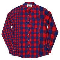Altru Apparel Plaid Mashup LS - RED/BLUE (Only S, M & 2XL)
