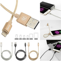 Metal Micro Data Cable Charger for for iPhone/ iPad/ iPod  3 Colors ( Grey/Silver/Gold) = 1667688388