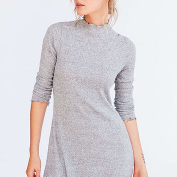 Kimchi Blue Lettuce-Edge Mock-Neck Mini Dress - Urban Outfitters