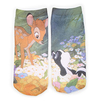 Bambi & Flower Ankle Socks
