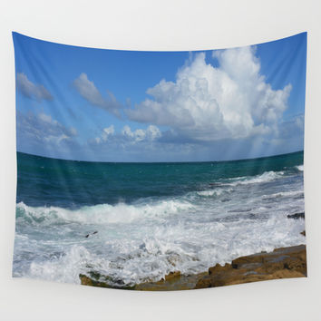Colors of the Sea Wall Tapestry by Lena Photo Art