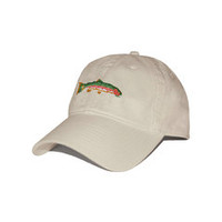 Big Trout Needlepoint Hat (Stone) | Smathers & Branson