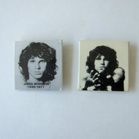 Vintage The Doors / Jim Morrison Set of 2 Pinback Buttons