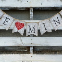 Be Mine Burlap Banner, Valentines Banner, Valentines Decor, Rustic Valentines Wedding Decor, Valentines Photo Prop