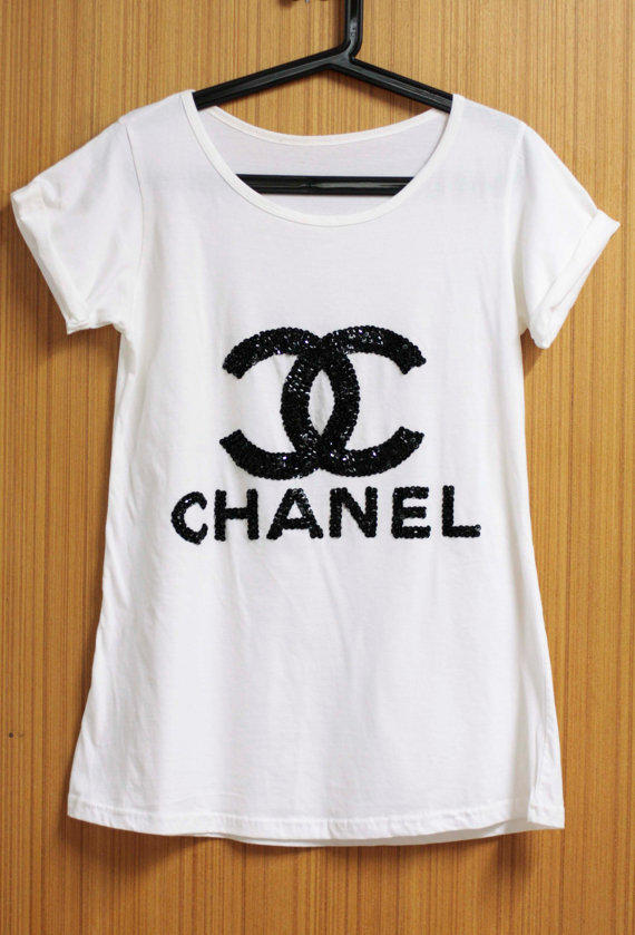 Coco chanel t shirts blouse tunic from orinocoshop on etsy for Best selling t shirts on etsy