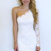 Lace One Shoulder Dress (more colors)