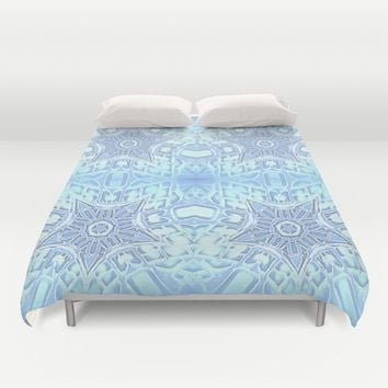 Frozen Blue Stars Duvet Cover by 2sweet4words Designs