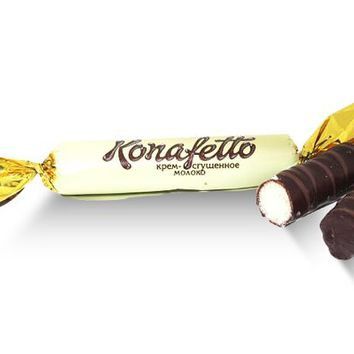 Konafetto Cream/ Condensed Milk Candy - Wafer, Dark - Roshen - Ukraine - 3 oz
